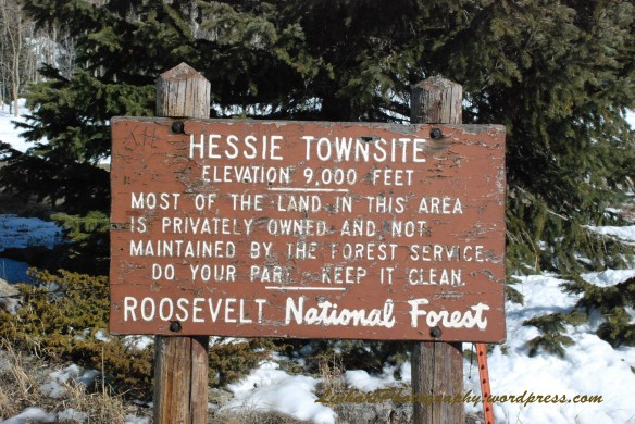Hessie Townsite Sign