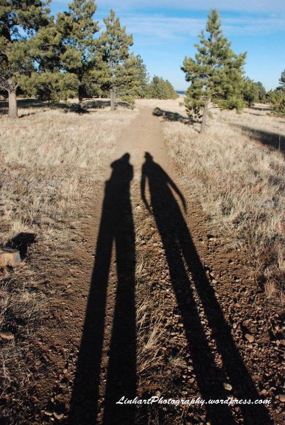 Flatirons Trail-our shadows