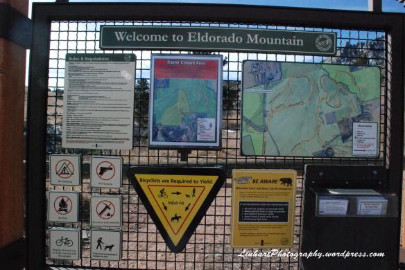 Eldorado Mountain-Trail Sign