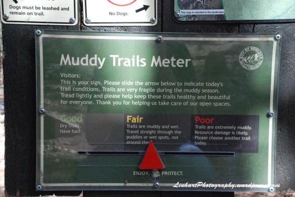 Eldorado Mountain-Muddy Trail Meter Sign