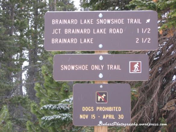 Brainard Lake-Trail Sign