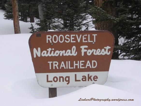 Long Lake Trailhead sign