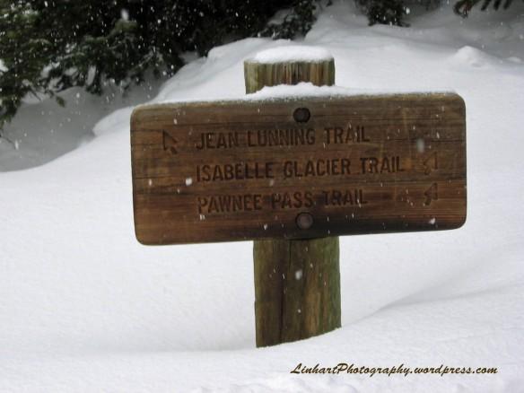 Long Lake Trail Sign