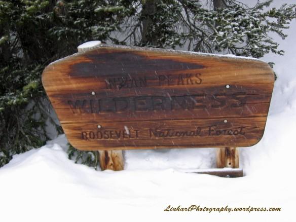 Long Lake-Indian Peaks Wilderness Sign