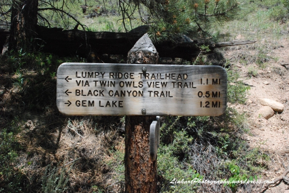 Gem Lake-trail sign