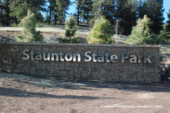 Staunton State Park-entrance sign