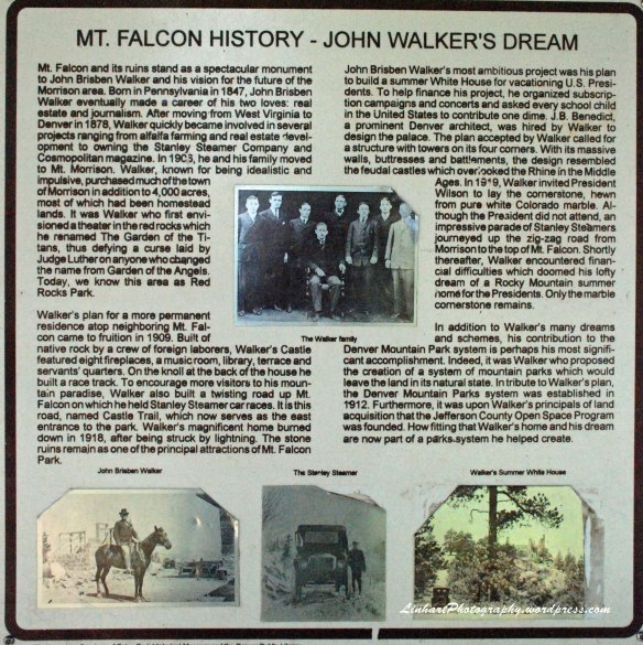 Mt Falcon Park-History Sign