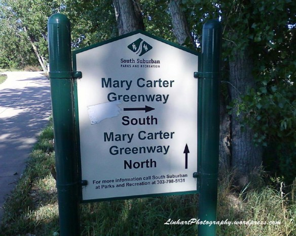 Bike Loop-Mary Carter Greenway Sign