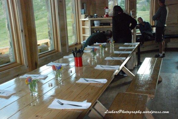 Fowler-Hilliard Hut-Dinner Table