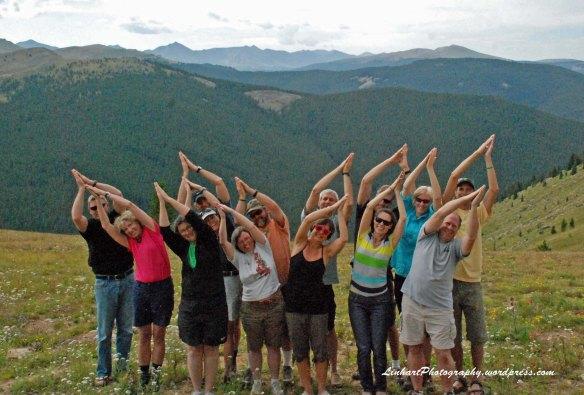 Fowler-Hilliard Hut-Group Yoga Pose
