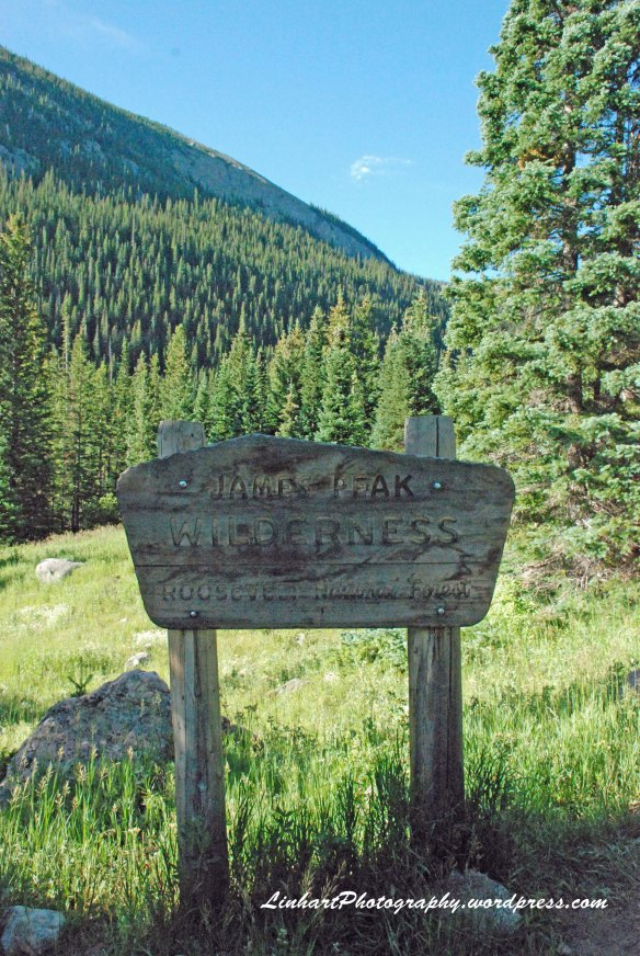 Forest Lakes-James Peak Wilderness sign