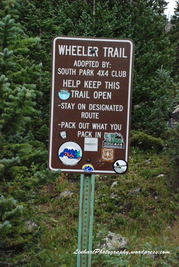Wheeler Lake-trail sign