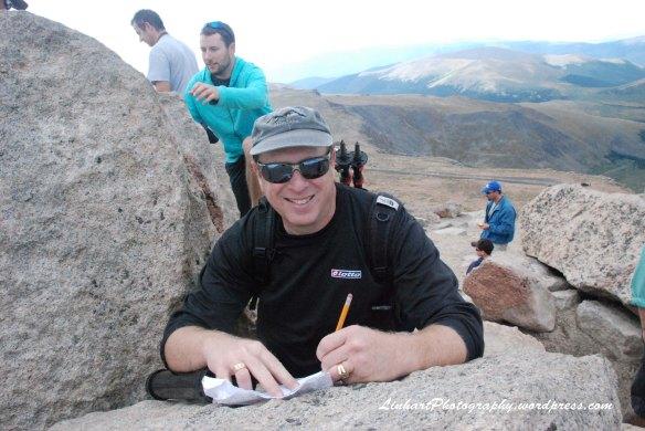 Mt. Evans-Bob Signing Register
